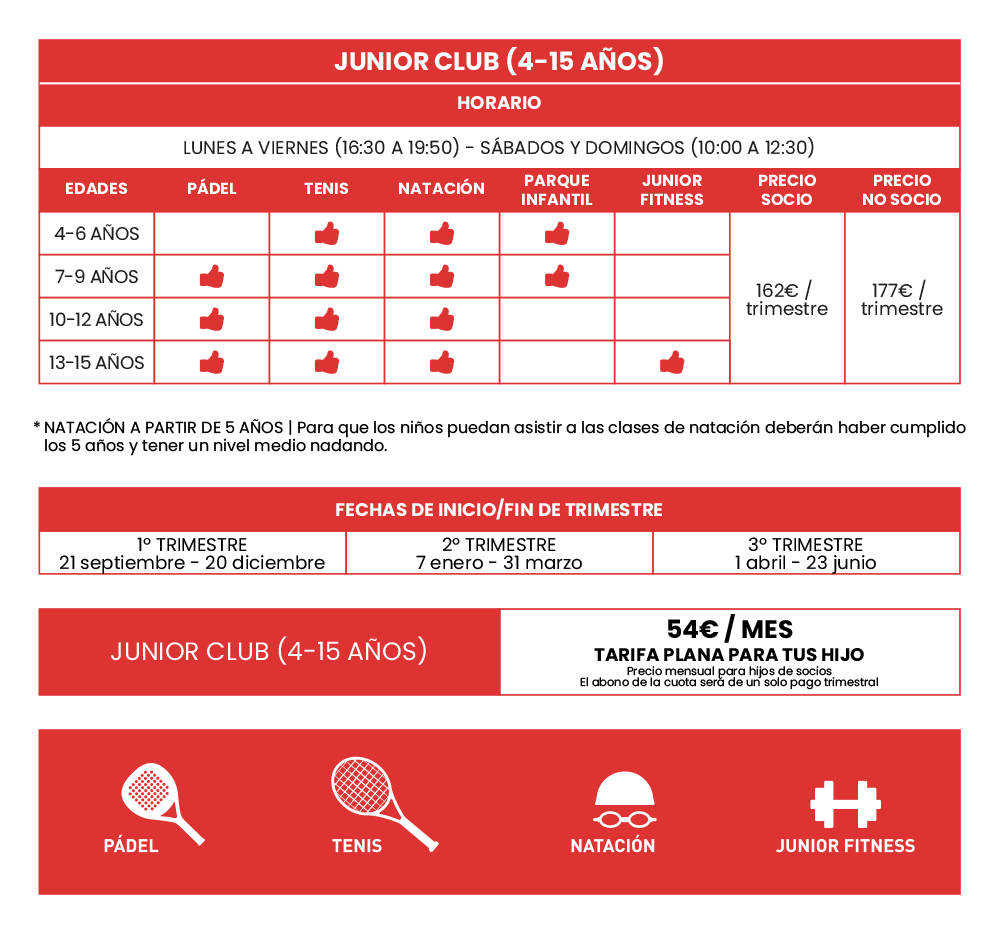 gimnasio-stadio-alicante-actividades-infantiles-junior-club-tabla